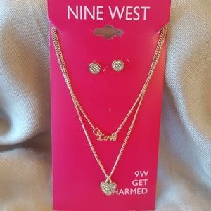 Nine West necklace and earring set